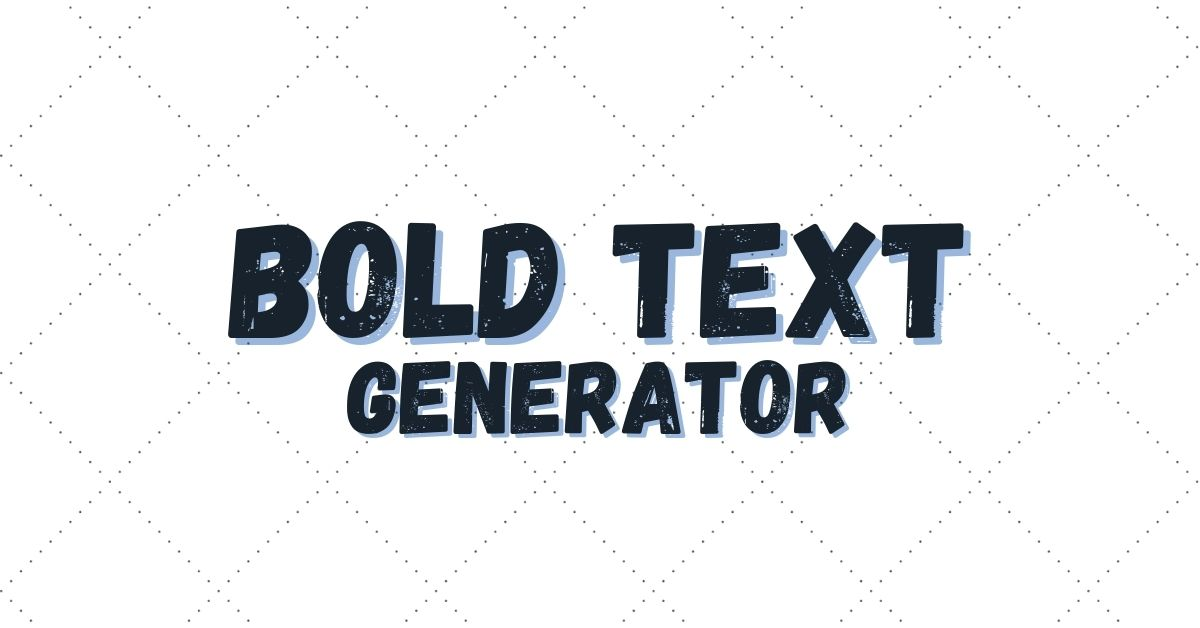 Bold Text Generator Tool Cover Photo